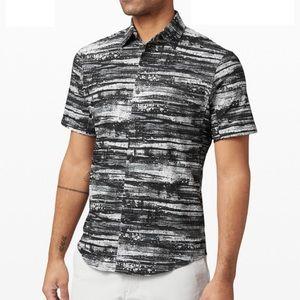 men's lululemon airing easy ss button down shirt